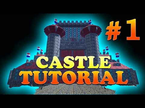 Part 1, How to Build a Castle with Round Towers in ARK Survival Evolved