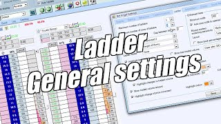 Using Bet Angel - Ladder screen - General settings