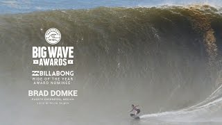 ‪Brad Domke on his Ride of the Year Nominated Wave - WSL Big Wave Awards 2015‬‏
