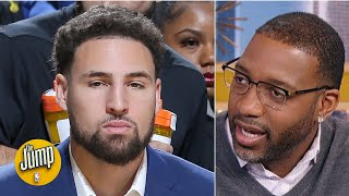 'For what? No. No!' Tracy McGrady doesn't want Klay Thompson coming back this season | The Jump