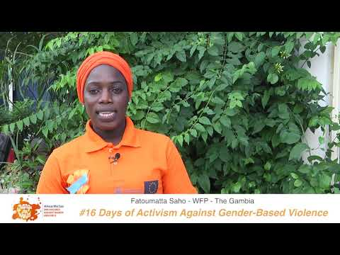 Fatoumatta Saho of WFP shares her #iBelieve message for 16 Days of Activism against GBV