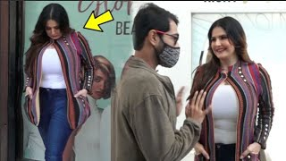 Zareen Khan Unbelievable Weight Gain Fan FUNNY Reaction Makes Her Uncomfortable!!!