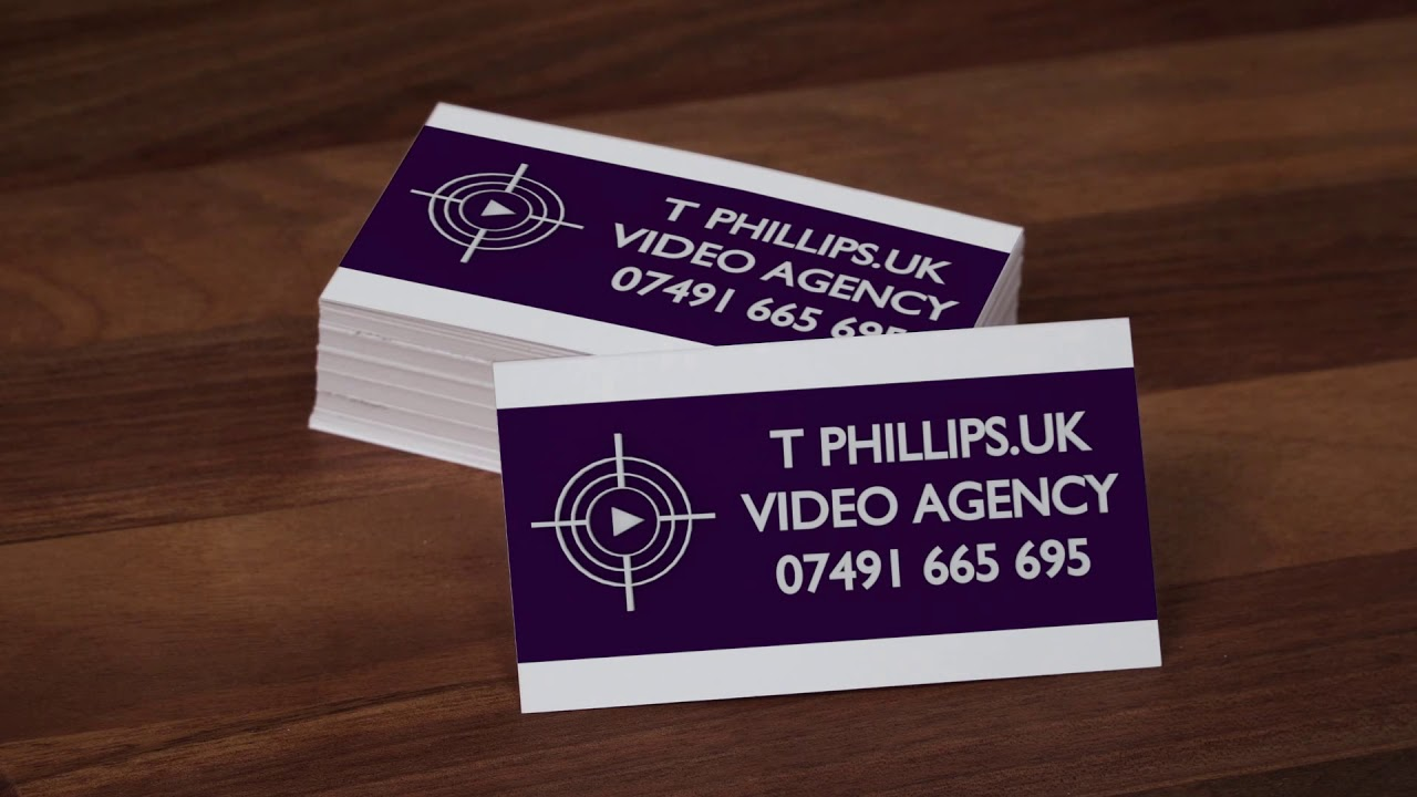 Business cards t phillips video agency youtube business cards t phillips video agency reheart Image collections