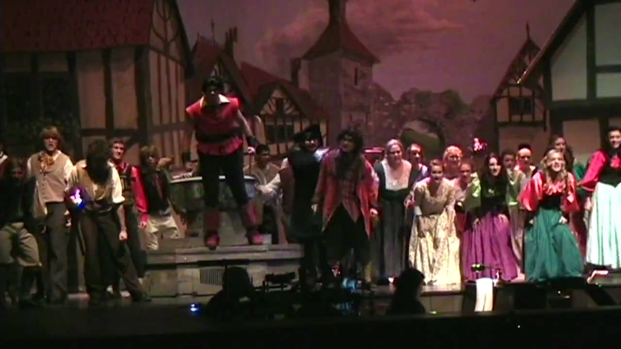 Hahs 2009 Musical Beauty And The Beast The Mob Song Youtube