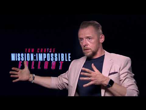 You won't believe who interrupted our  with Simon Pegg...  Spoiler Alert!