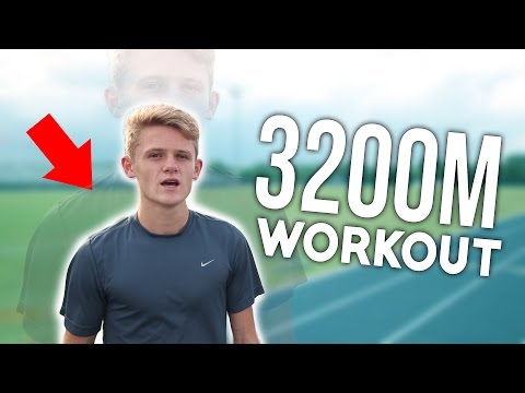 3200m workout - 4 days out from state