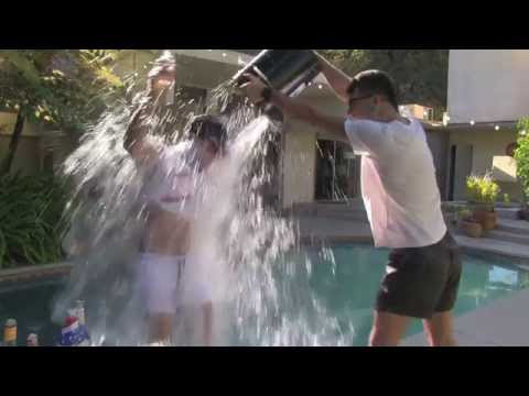 Enrique does the ALS Ice Bucket* Oprah Challenge