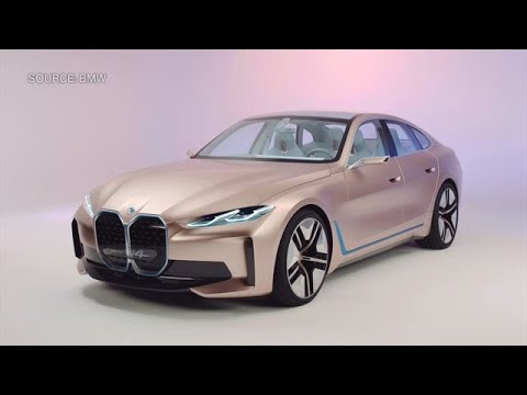 This Is BMW's i4 Concept Car, It's Answer to Tesla - YouTube