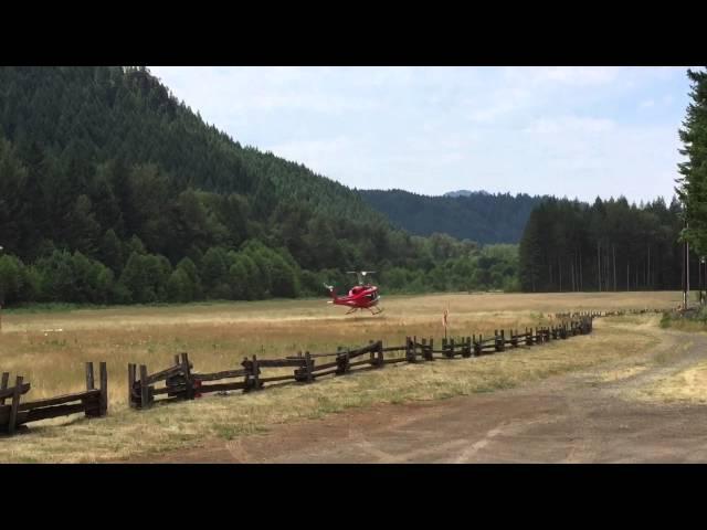 McKenzie River airstrip helibase operations 1
