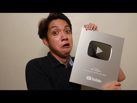 silver play button unboxing + my youtube journey