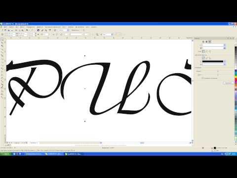 CorelDRAW увеличиваем толщину шрифта контуром.  Ателье Виниловых Наклеек г. Ижевск