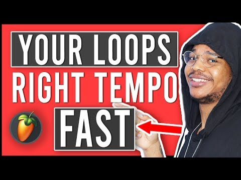 How To Make Any Loop Fit, FAST(How To Sync Samples To Project Tempo In FL Studio 20)