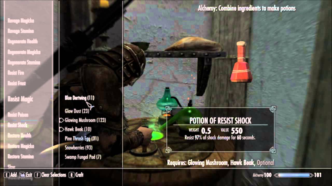 Skyrim Alchemy Guide Favorite Potions Youtube