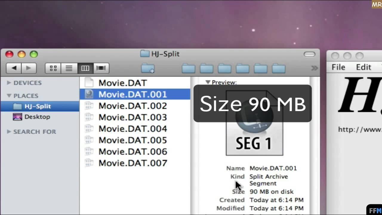 Split & Join Files Free on Mac-MR