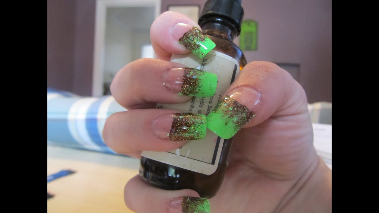 Neon Green Halloween nails - YouTube