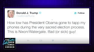 President Trump Tweets about the Tapps