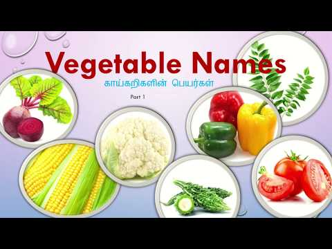Vegetable Names With Pictures In Tamil And English
