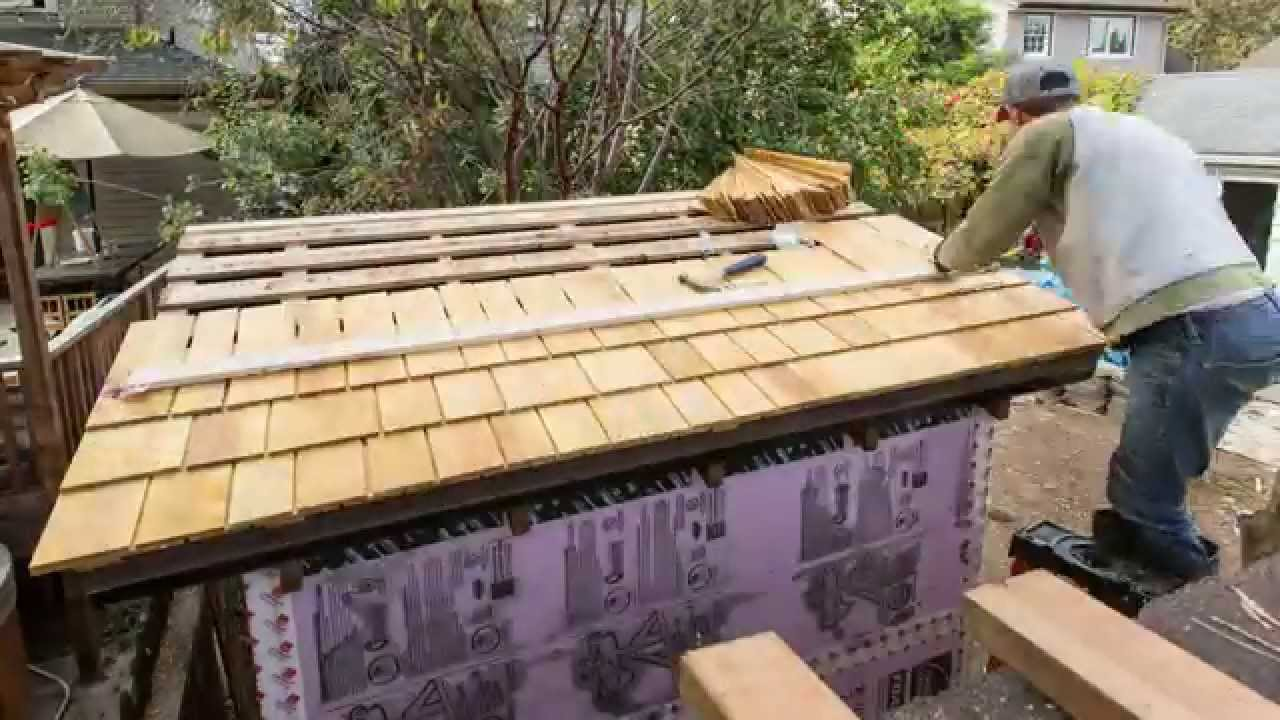 Garden Sheds Installed installing shingles on my garden shed roof - youtube