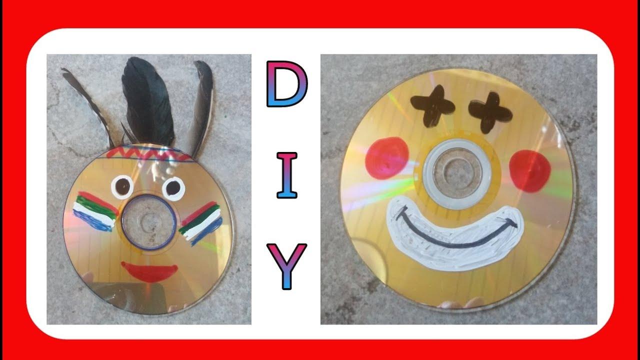 Malen basteln f r kinder cd 39 s dekorieren julebuergerfee youtube - Basteln mit alten cds ...
