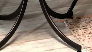 Innobella Destinay 38 In. Round Folding Table With 4 Slat Back Folding Chairs - Product Review Video