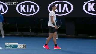 Nadal vs Dimitrov - Australian Open 2017 SF ( Highlights HD 720p60)
