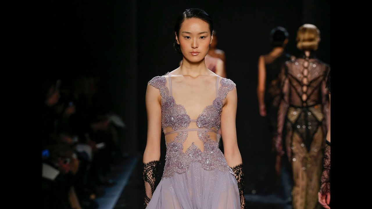 Reem Acra Fall 2016 Ready-to-Wear NYFW - YouTube