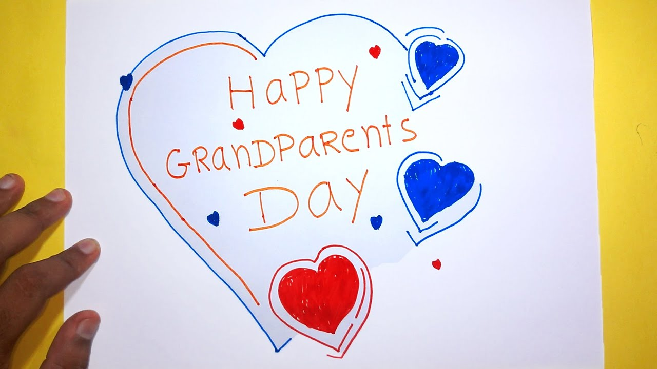 Happy Grandparents Day GREETING Drawing For Kids