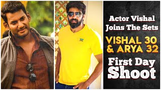 Actor Vishal Joins The Sets | Exclusive Video | Vishal 30 & Arya 32 | First Day Shoot