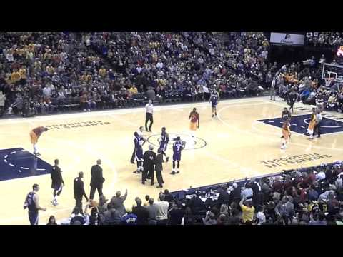 Sacramento Kings George Karl technical foul vs. Indiana Pacers