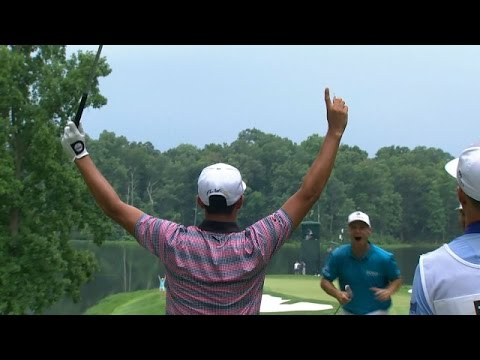 rickie-fowler's-walk-off-ace-on-the-par-3-9th-hole-at-quicken-loans