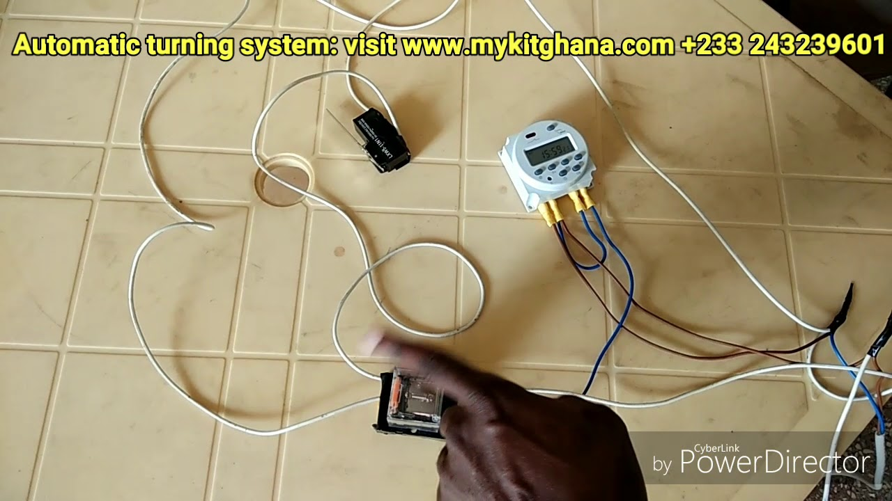 how to make incubator egg turner system automatic with timer switch [ 1280 x 720 Pixel ]