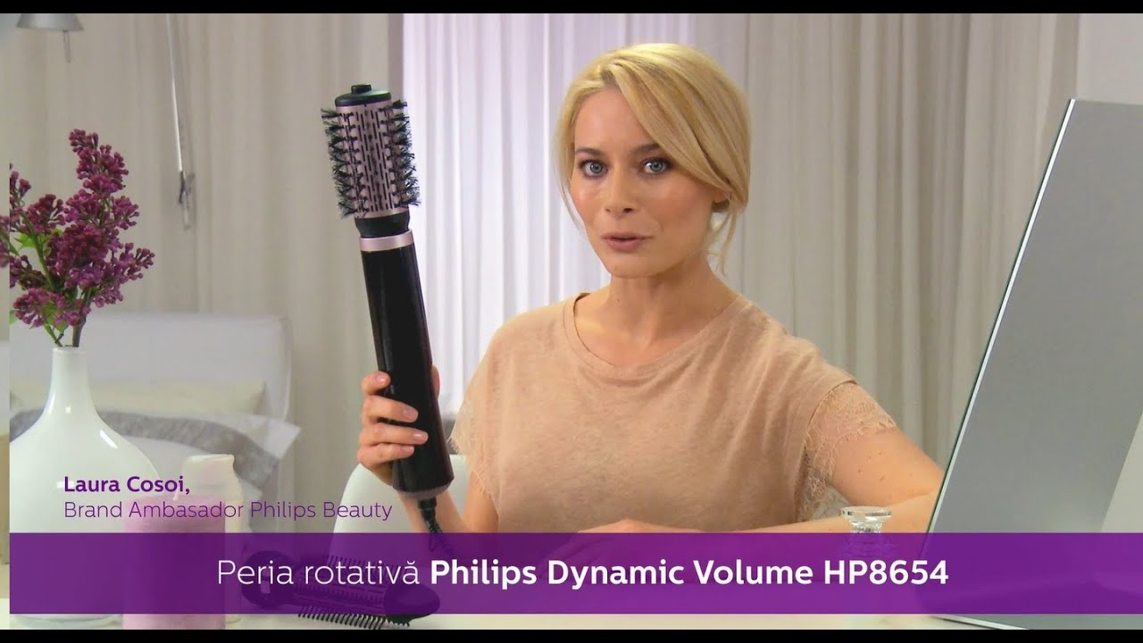 Tutorial Perie rotativa Philips alaturi de Laura Cosoi