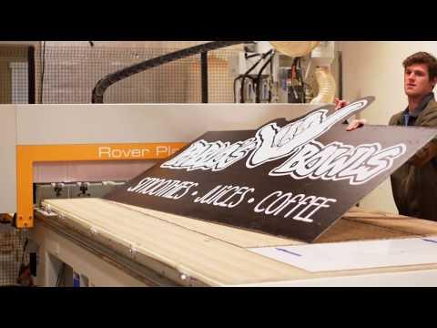 Aluminum Signs | UV Flatbed Print To CNC Cut | Plak That Printing Co.