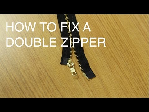 How to Fix/Repair a Double Slider Zipper (Two Way Separating)