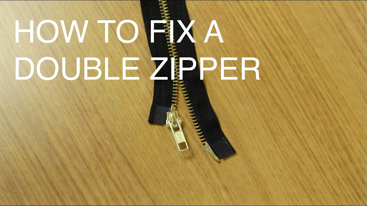 2 Way Fix 03 Lancer Radio Wiring Diagram How To Repair A Double Slider Zipper Two