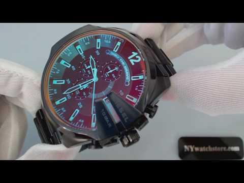 df025534cec0 Black Diesel Mega Chief XL Big Chronograph Watch DZ4318 - YouTube