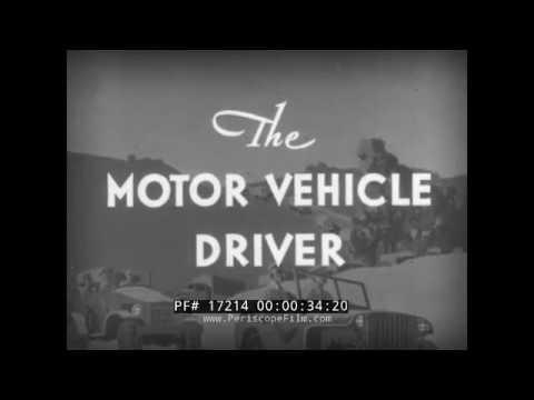 WWII U.S. ARMY DRIVER TRAINING FILM