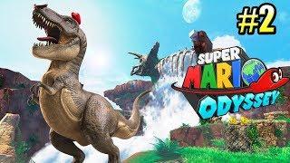 Super Mario Odyssey {Switch} прохождение часть 2 — ВЕРХОМ На ДИНОЗАВРЕ