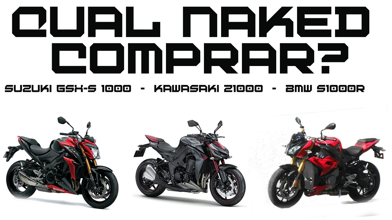 Comparativo Kawasaki Z1000 Suzuki Gsx s 1000 BMW S1000r