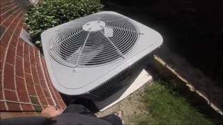 2014 Carrier 3.5 ton Central Air Conditioner Running!(Located at a house in my neighborhood. Filmed Wednesday June 22, 2016., 2016-07-10T17:45:08.000Z)