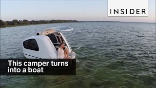This camper turns into a boat