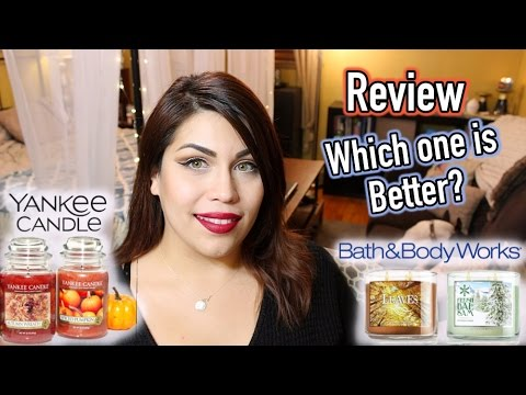 Yankee Candle Vs Bath Body Works Which Is Better Youtube