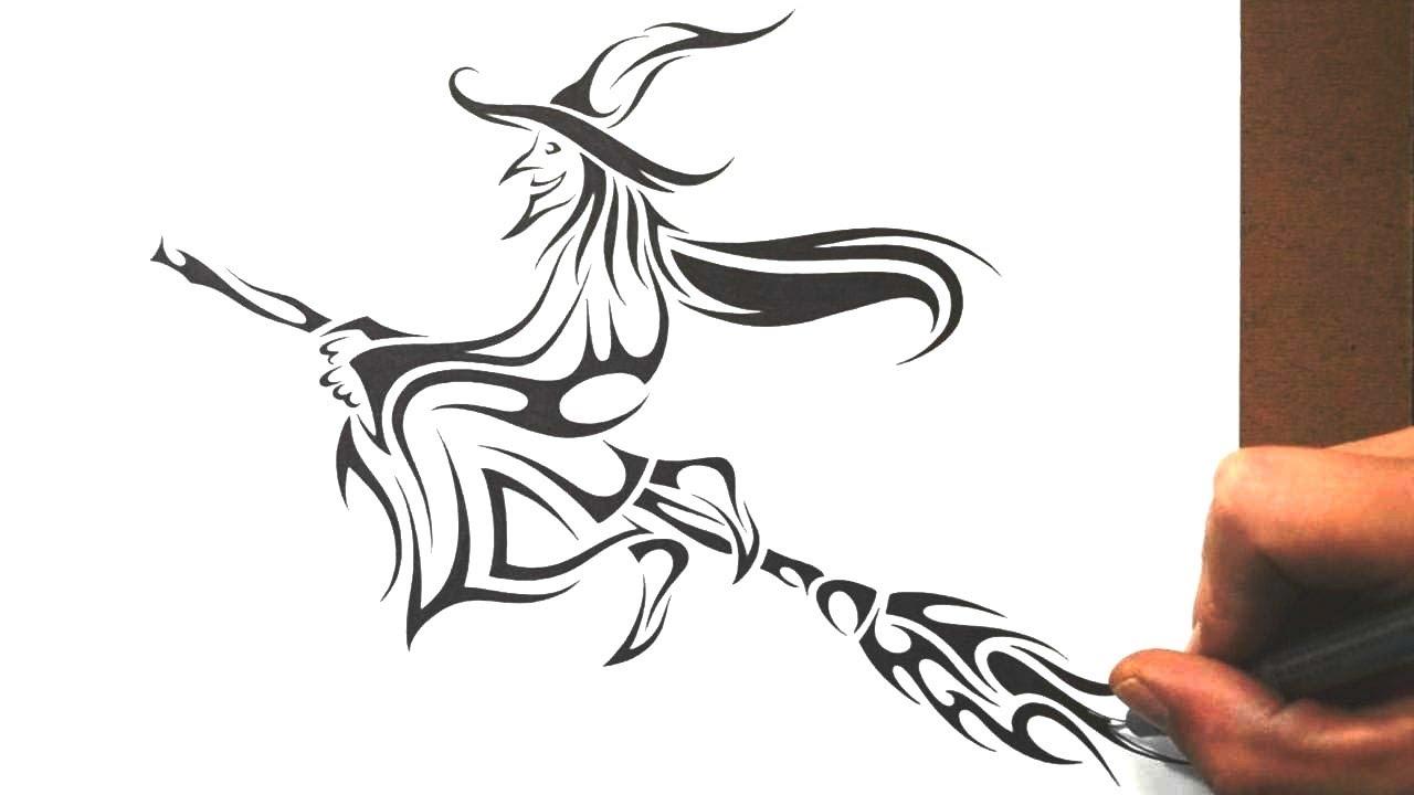 Free Witch Tattoo Designs