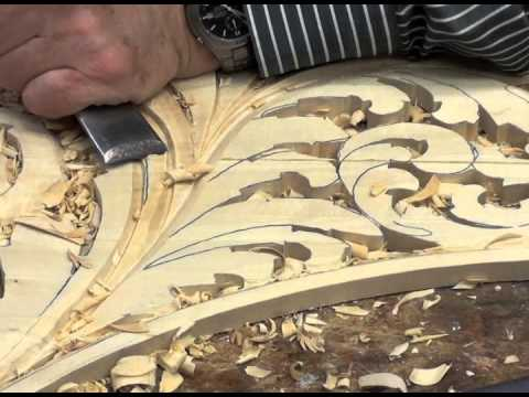Wood carved organ ornament youtube