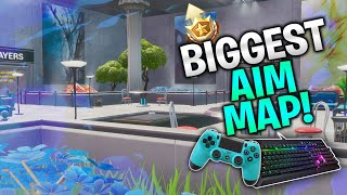 The Biggest AIM Map! Improve Your Aim Fast on Controller, Keyboard and Mobile! (Fortnite Creative)