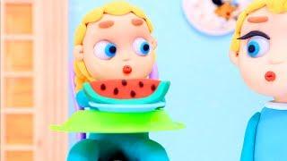 Watermelon 💕 Superhero Clay Stop motion cartoons