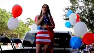 God Bless the USA -The Gardiner Sisters style by Jacquie Nunez in the Weston 4th of July Parade
