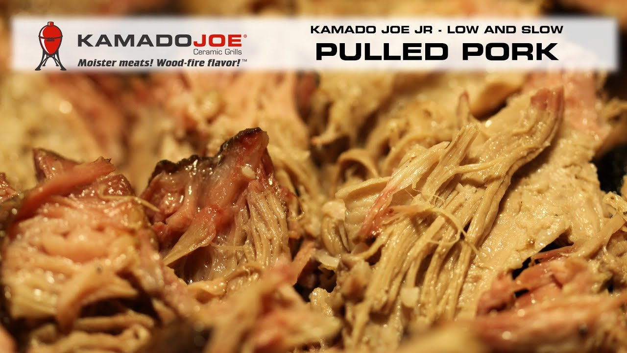 Pulled Pork Kamado.Boston Butt Pulled Pork On The Kamado Joe Jr Youtube