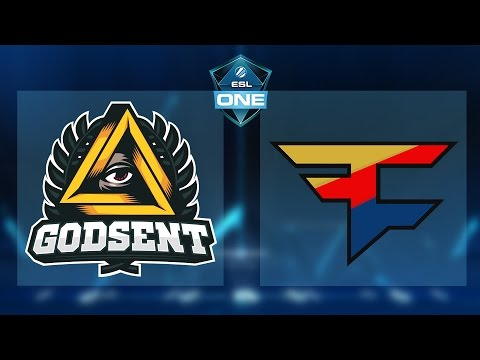 CS:GO - Godsent vs. FaZe [Dust2] Map 3 - ESL One New York EU