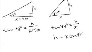 Solve Right Triangles 6 word problem